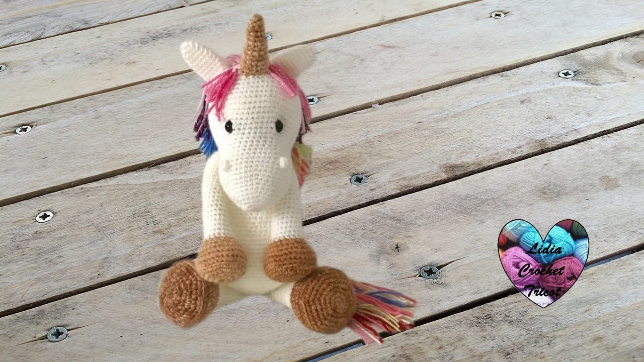 Unicorn amigurumi crochet (english subtitles) 1/2