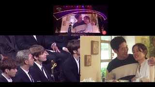181024 BTS (방탄소년단) Reaction to Something in the rain (Pretty noona who buys me food) VCR