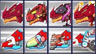 Dino Robot Corps Deluxe: Fire Tyrannosaurus & Microceratus   Eftsei Gaming