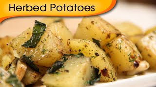 Herbed Potatoes - Easy To Make Homemade Party Appetizer / Snack Recipe By Ruchi Bharani