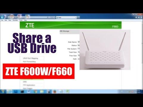 Cara Membagi Drive USB Dari ZTE WIFI Router