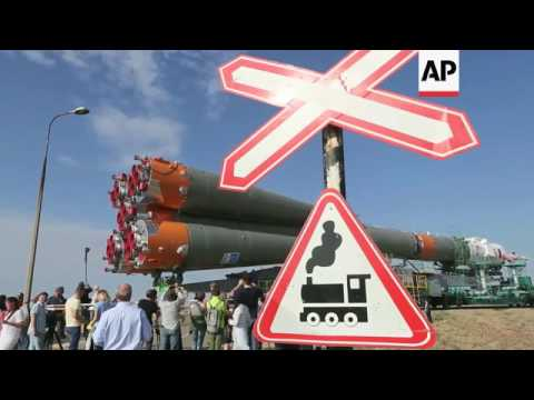 Soyuz rocket installed on Kazakhstan launch pad