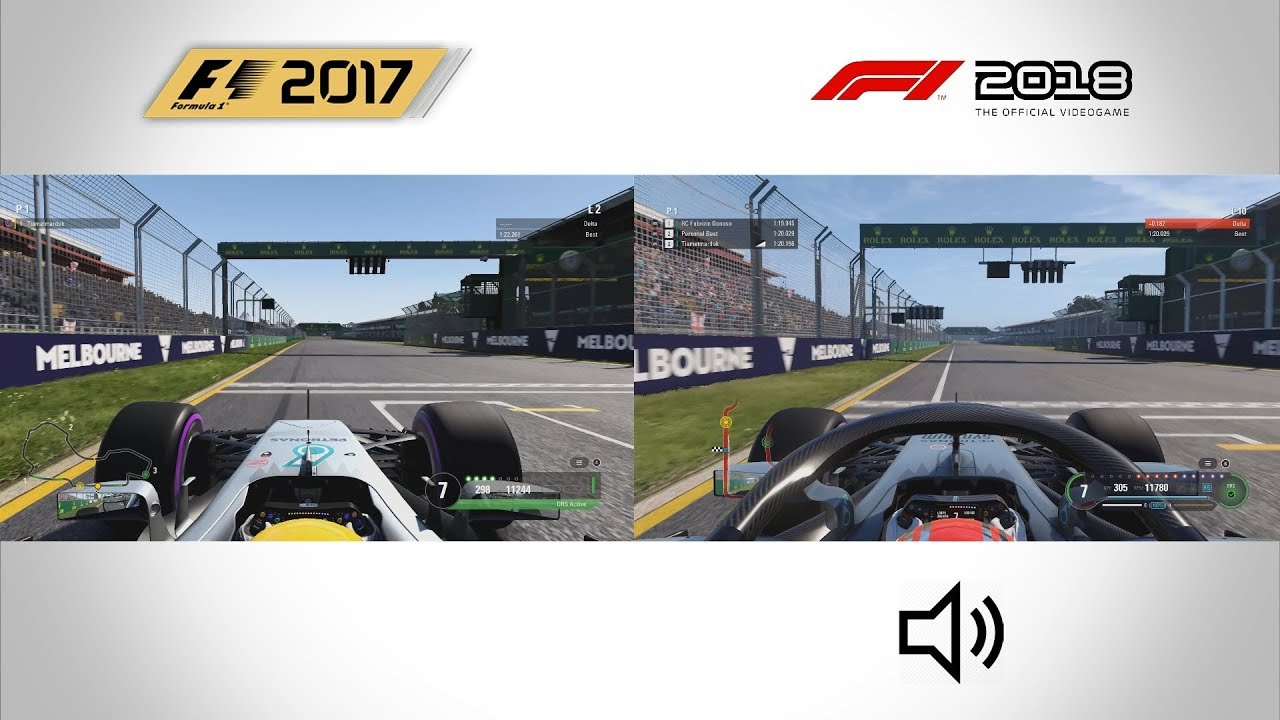 f1 2018 vs f1 2017 gameplay comparison youtube. Black Bedroom Furniture Sets. Home Design Ideas