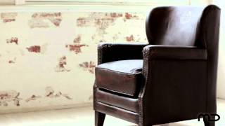 Industrial Leather Arm Chair -  L'usine Vintage  - Milan Direct