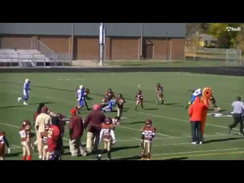 Alex Graham 4th grade, 9 yo,  2016 10U Football highlights, RB/FS/CB West 7 Rams
