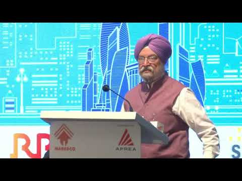 Shri Hardeep Singh Puri, Hon'ble Minister of State for Housing & Urban Affairs during #REIIS2017