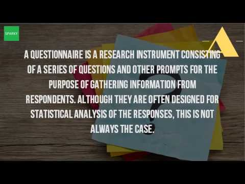 What Is A Questionnaire As A Research Instrument?