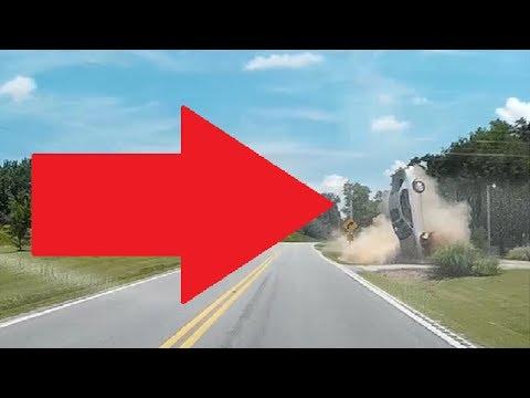 CAR CRASH AND FLIP CAUGHT ON DASH CAM  - Blacksburg, SC, USA 6/3/17 (Language Censored)