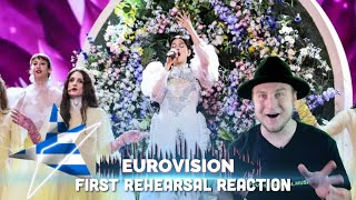 Katerine Duska - Better Love - First Rehearsal (Greece Eurovision Reaction 2019)