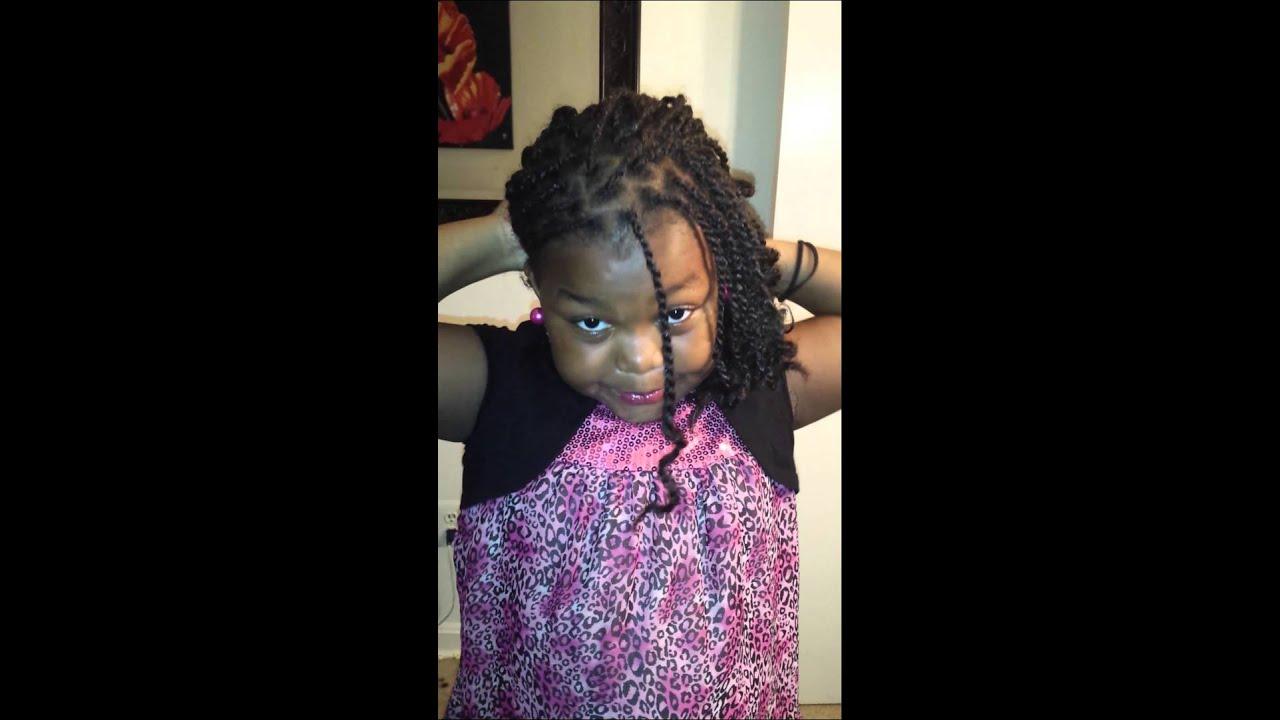 Kinky twist hairstyle for kids - YouTube