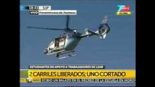 FÁBRICA LEAR - Berni llega en Helicóptero - Mie 27/8/2014 - 8:35 AM