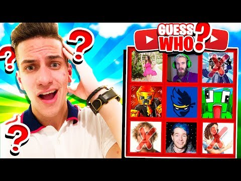 GUESS THE YOUTUBER CHALLENGE! (WHO'S THAT YOUTUBER?)