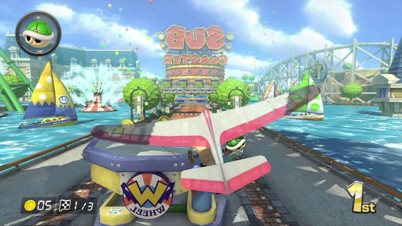 Mario Kart 8 Gameplay Mirror Mushroom Cup Water Park