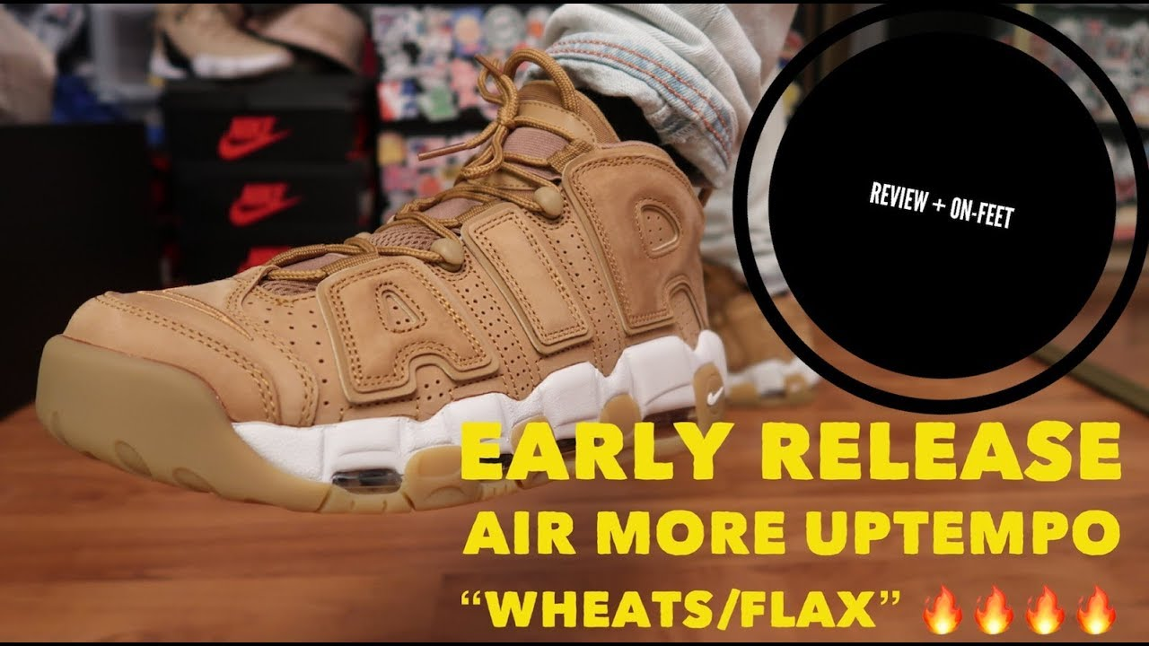 d1a759f55c early release AIR MORE UPTEMPO '96 PRM WHEAT / FLAX review and on-feet  🔥🔥🔥🔥🔥🔥🔥