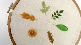 Learn How to Stitch 06 Different Types of Leaves: EMBROIDERY FOR BEGINNERS