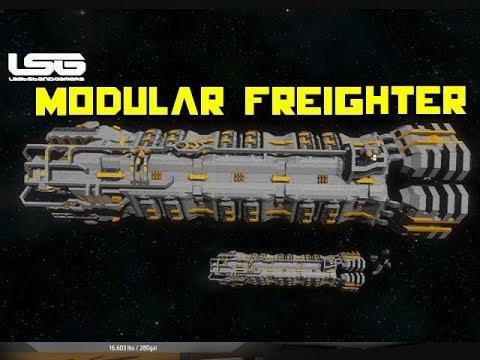Space Engineers Scarabaeus Modular Freighter Youtube
