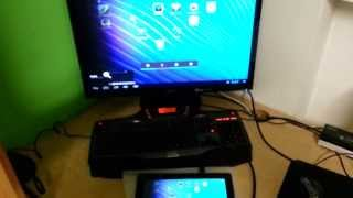Playing with Android tablet PC on a PC monitor - connected via HDMI