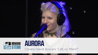 """Aurora Covers David Bowie's """"Life on Mars?"""" on the Stern Show (2016)"""