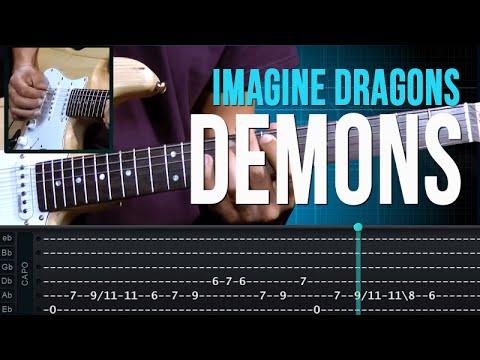 Imagine Dragons - Demons (como tocar - aula de guitarra)