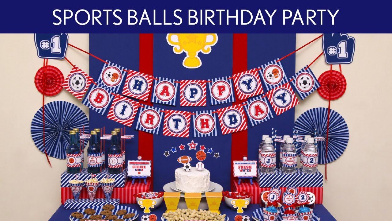 Sports Ball Birthday Party Ideas Sports Ball B120 YouTube