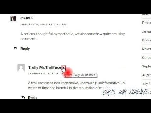 Commenter Ignore Button Technical Demo