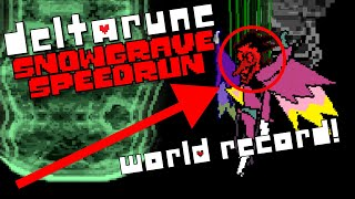 World Record - Deltarune Chapter 2 Speedrun in 37:25 (Snowgrave Route)
