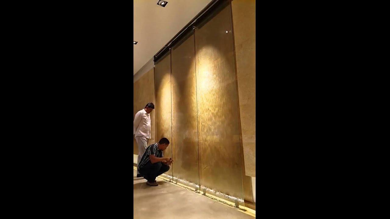Muro llor n sobre vidrio templado monteria colomb youtube for Muro cristal