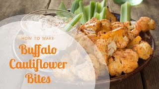 Buffalo Cauliflower Bites with Blue Cheese Dressing