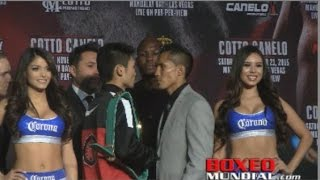 "Takashi Miura and  Francisco ""El Bandido"" Vargas at Undercard press conference for Cotto-Canelo"