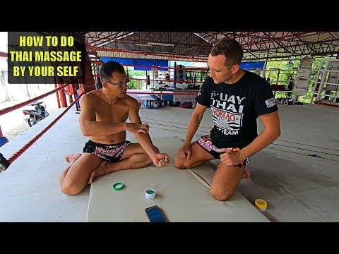 Техника тайского массажа обучение. Самомассаж. Как Тайцы делают массаж.Thai Massage For Fighter.