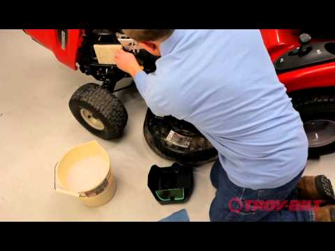 How to change the air filter | Troy-Bilt riding lawn mower | Kohler engine