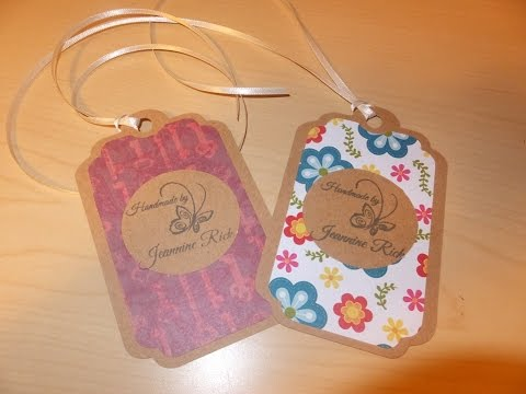 "DIY ""Handmade By"" Product/Gift Tags with Cricut"