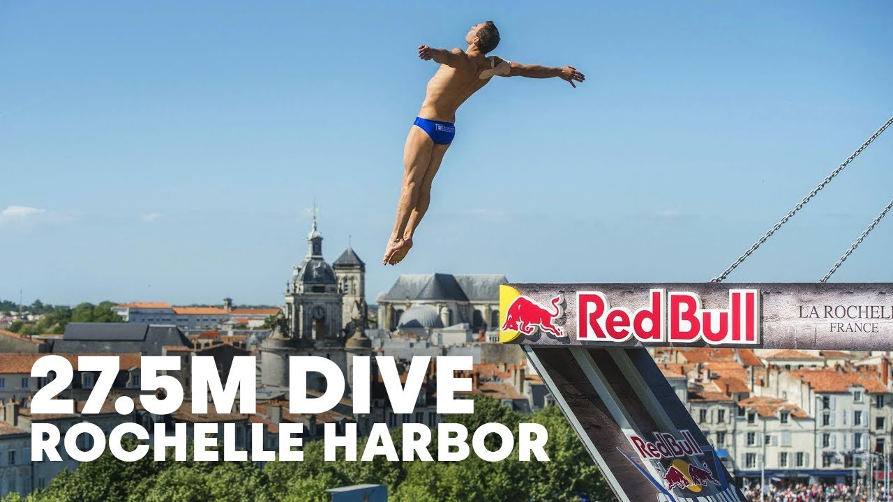 27.5M High Dives into the Rochelle Harbor - Red Bull Cliff Diving 2015
