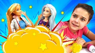 Видео про куклы - Драка в Салоне Красоты! Кукла Барби сделала прическу и подралась из-за Кена!