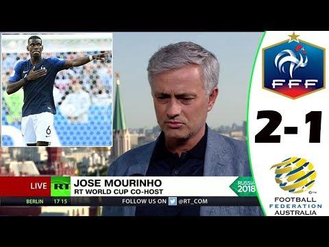 FRANCE VS AUSTRALIA 2-1 [POST MATCH ANALYSIS] WITH JOSÉ MOURINHO!