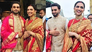 Deepika Padukone And Ranveer Singh Seek Blessings In Tirupati  Temple |#Deepveer | Filmylooks