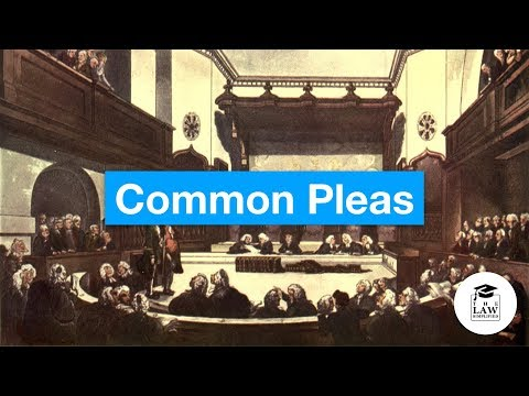 History of English Law - Courts of the Common Law - Common Pleas