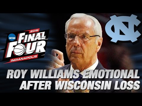 UNC's Roy Williams Gets Emotional Following Loss to Wisconsin