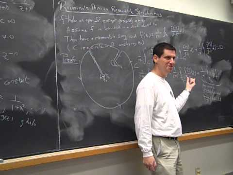 Math372 Fa2013 Lecture10: Singularities (Riemann's Removable Theorem, Casorati-Weirestrass)