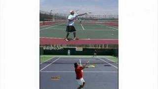 i m on your side tennis with dan brown serve lesson