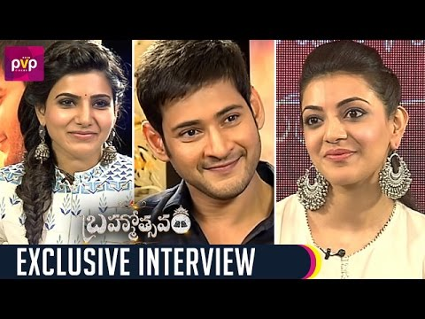 Samantha Funny Interview with Mahesh Babu and Kajal Aggarwal | Brahmotsavam Movie | PVP Cinema