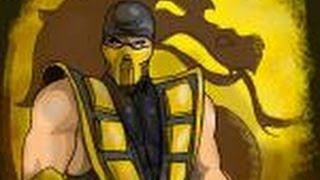 How to draw Scorpion from Mortal Combat