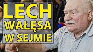 """Lech Wałęsa do protestujących w Sejmie: """"Ja mam oprócz was jeszcze masę innych spraw."""""""