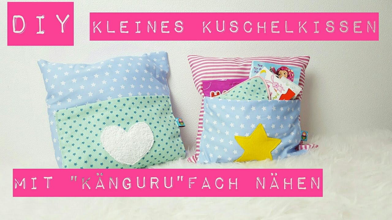 diy kleines kissen n hen kuschelkissen mit k nguru fach n hen n hen f r anf nger diy kajuete. Black Bedroom Furniture Sets. Home Design Ideas