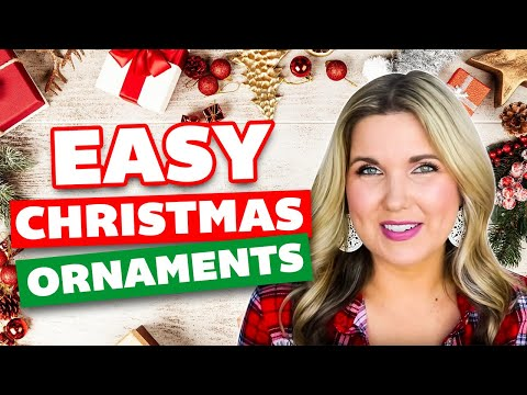 Easy Christmas Ornaments 🎄 Handmade Christmas Crafts DIY 🎄