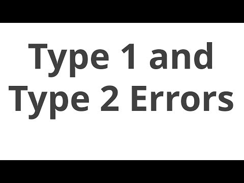 Type 1 and Type 2 errors by Daniel Lakens