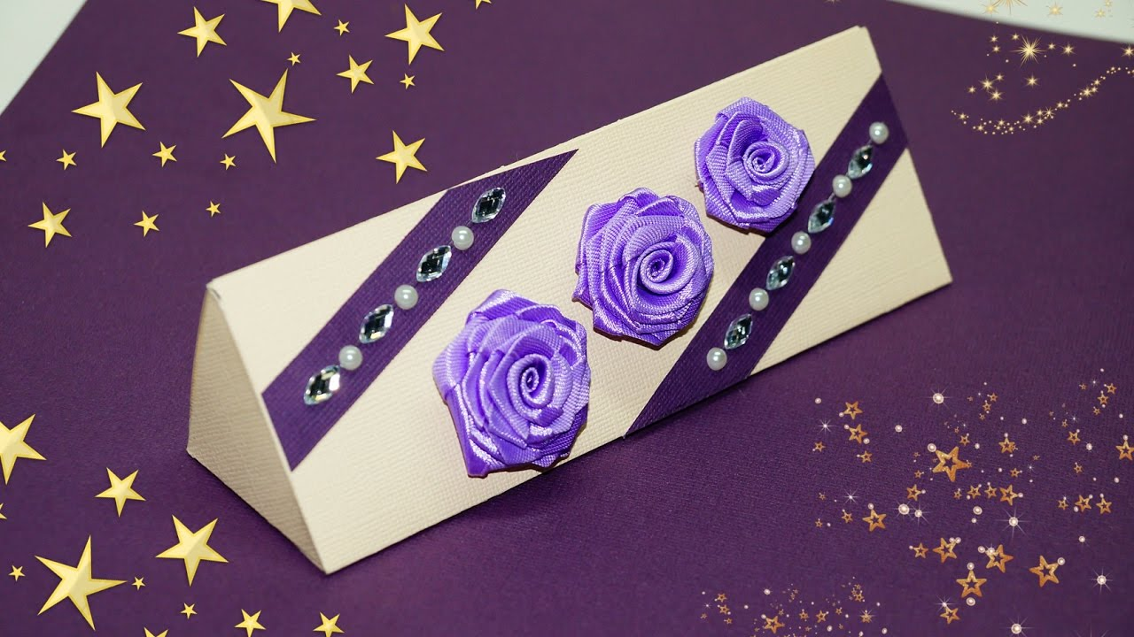 diy paper crafts idea. how to make gift box at home. gift box