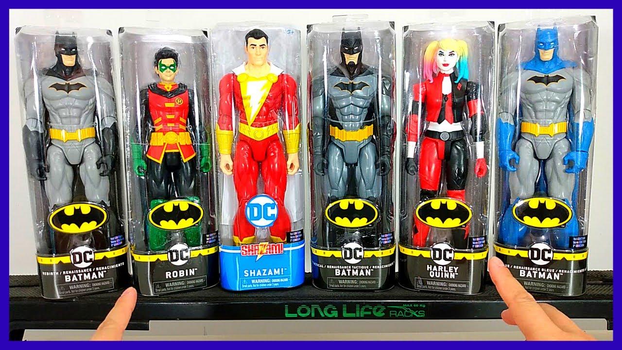 Bonecos Batman,HarleyQuinn,Robin,Shazam,Batman Rebirth - Nova Coleção - Sunny - DC - 30cm