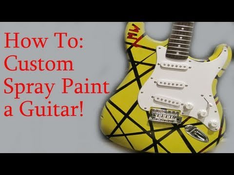 how to spray paint a guitar mashpedia video. Black Bedroom Furniture Sets. Home Design Ideas