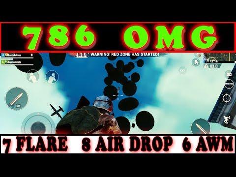 786 OMG || 7 FLARE GUNS, 8 AIR DROP, 6 AWM || IN A SINGLE MATCH PUBG MOBILE